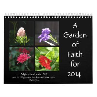 Garden of Faith, 2014 Calendar, w/ Bible Quotes Calendar