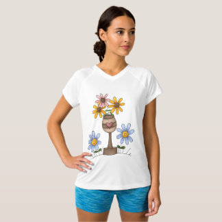 Garden Of Flowers Womens Active Tee