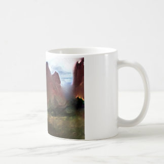 garden of gods abstrac watercolor from picture coffee mug