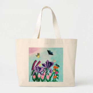 Garden of Heavenly Delights Large Tote Bag