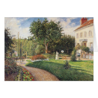 Garden of Les Mathurins at Pontoise by Pissarro Card