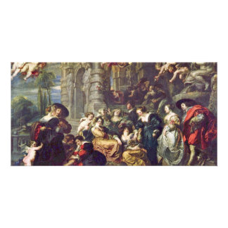 Garden Of Love By Rubens Peter Paul (Best Quality) Customised Photo Card