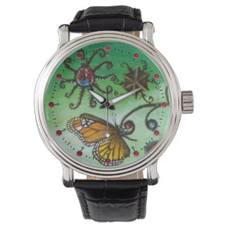GARDEN OF MELISSA Magic Butterfly, Ladybug,Green Watch