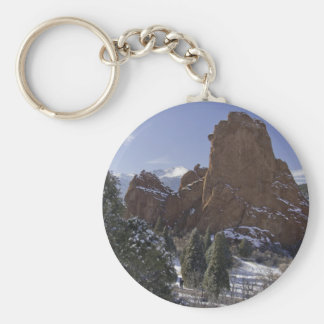 Garden of the Gods 3 Basic Round Button Key Ring