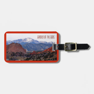 Garden of the Gods (Colorado) with text Luggage Tag