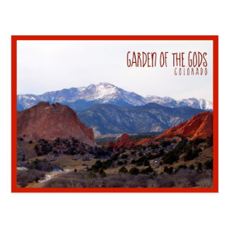 Garden of the Gods (Colorado) with text Postcard