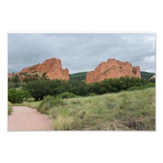 Garden of the Gods Monoliths Along Trail Photo Print