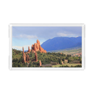 Garden of the Gods park Colorado serving tray