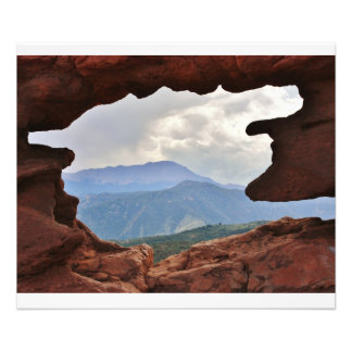 Garden of the God's with a view of Pike's Peak Photographic Print