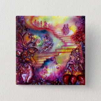 GARDEN OF THE LOST SHADOWS -MYSTIC STAIRS 15 CM SQUARE BADGE