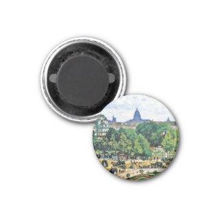 Garden of the Princess Claude Monet  fine art 3 Cm Round Magnet