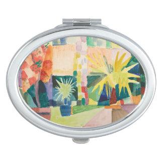 """""""Garden On Lake Thun"""" Art pocket mirror Vanity Mirror"""