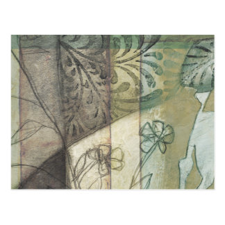Garden Panel with Leaves, Flowers, and Grass Postcard