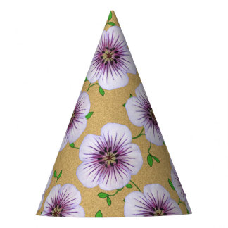 Garden Party Blue Flower on any Color Party Hat