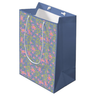 Garden Party Blue Grey Medium Gift Bag