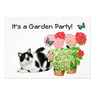 Garden Party Cat Invitation