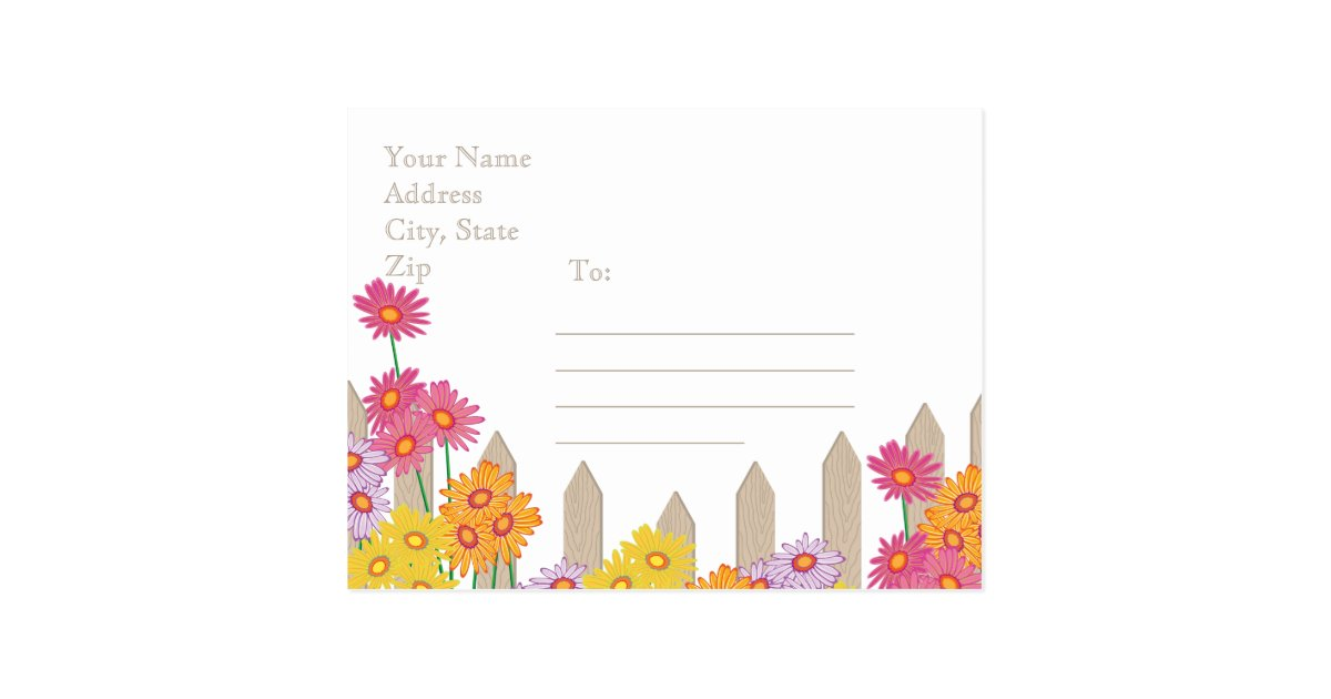 Garden party collection save the date postcard zazzle Collect and save