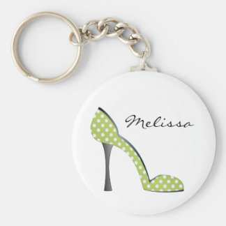 Garden Party Dot Shoe Basic Round Button Key Ring