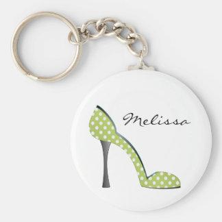 Garden Party Dot Shoe Key Ring
