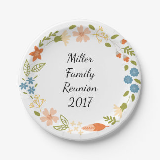 Garden Party Floral Personalized Paper Plates