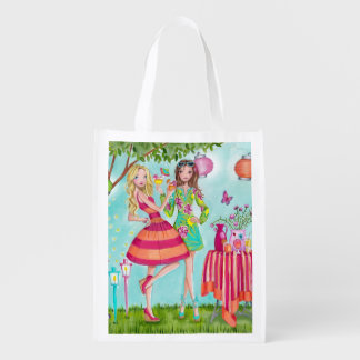 Garden Party Girls reusable grocery bag
