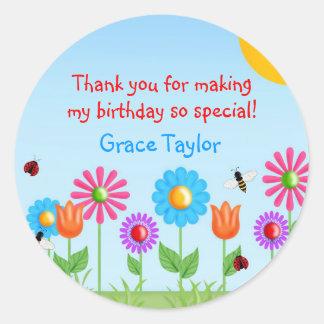 Garden Party Ladybug Birthday Stickers