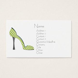 Garden Party Shoe Business Card