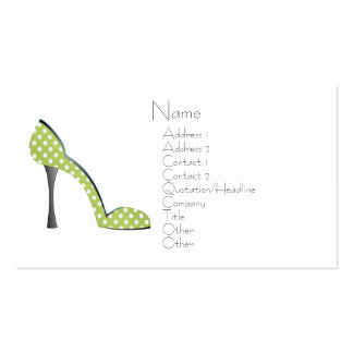 Garden Party Shoe Business Cards