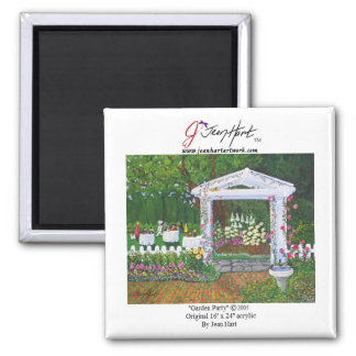 Garden Party Square Magnet