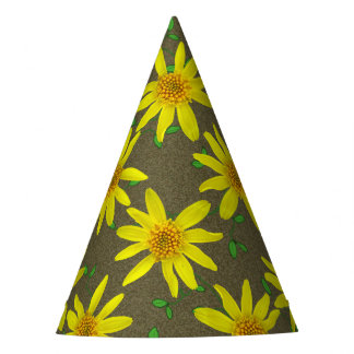 Garden Party Yellow Flower on any Color Party Hat