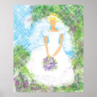 Garden Path Bride Poster