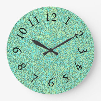 Garden-Pebbles-Lime-Turquoise -Clock Large Clock