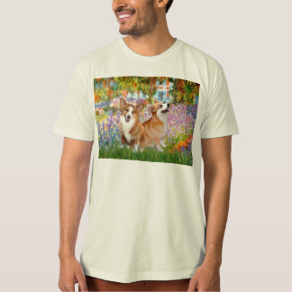 Garden - Pembroke Welsh Corgis (two) T-Shirt