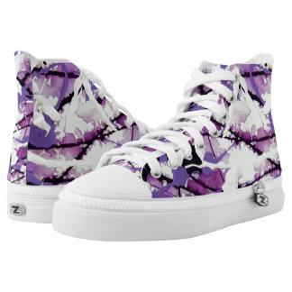 Garden Pixies Hi Tops Printed Shoes