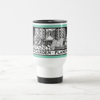 Garden plans mug: elegant design from 1919 stainless steel travel mug