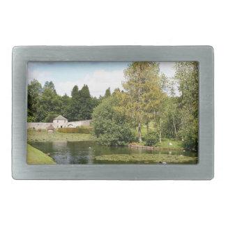 Garden & pond, highlands, Scotland Belt Buckle