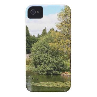 Garden & pond, highlands, Scotland iPhone 4 Case-Mate Cases