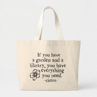 Garden Quotes Tote Bag