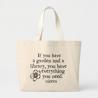 Garden Quotes Jumbo Tote Bag