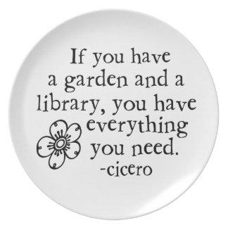 Garden Quotes Plate