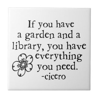 Garden Quotes Small Square Tile