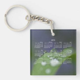 Garden Raindrops; 2013 Calendar Single-Sided Square Acrylic Key Ring