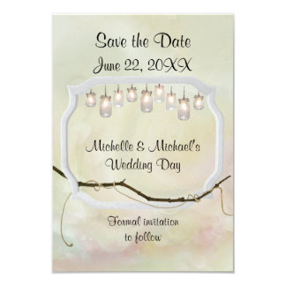 Garden Romance Save the Date Card