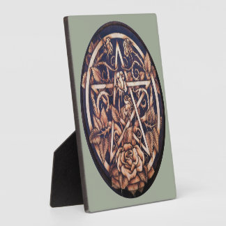"Garden Rose Pentacle 5.25""x5.25"" Photo Plaque"