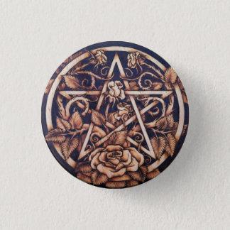 Garden Rose Pentacle Button Pin