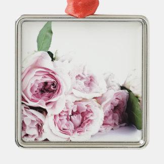 Garden roses metal ornament