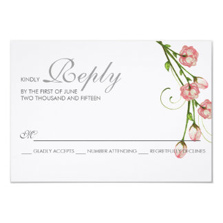 Garden Roses RSVP Card 9 Cm X 13 Cm Invitation Card