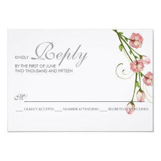 Garden Roses RSVP Card 9 Cm X 13 Cm Invitation Card