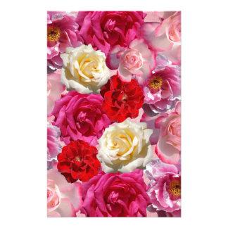 Garden Roses Vibrant Garden Roses Design Stationery