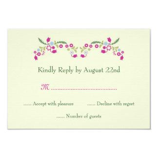Garden RSVP Card 9 Cm X 13 Cm Invitation Card